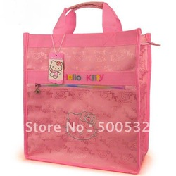 Hello kitty baby bag Mother's cute shopping bag handbag Jacquard canvas reusable bags, free shipping 5 pcs/lot KT-831(China (Mainland))