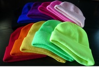 Free shipping! 2012 Tops selling Winter hip-pop Neon Knitted Hat Men Casual Fluorescent Caps Knitted 25pc/lot 1384