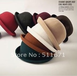 BRAND NEW Unisex Classic PORK PIE STYLE TRILBY FEDORA HAT Free Size JSM001(China (Mainland))