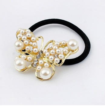 (Min order$10)Free shipping!Korean fashion pearl Butterfly Fairy Ring!#756
