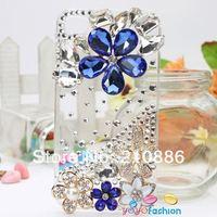 Чехол для для мобильных телефонов Hard cell phone Case Cover for iphone4/4S, bling Rhinestone Crystal Diamond pearl flower, paris The Eiffel Tower
