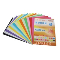 Wholesale Color copy paper A4 80g, to print colored paper, origami 15 colors 100pcs/lot