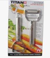 Stainless steel peeler multi-function peeler/cutter
