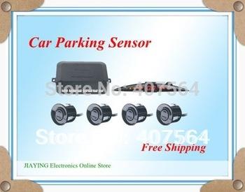 Free shipping 4 Sensors System 12V LED Display Indicator Parking Car Reverse Radar Kit