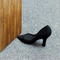 Whosale 3Pcs/lot High Heel Shoe Plastic Door Stop Wedge Stopper Foot in the Door Doorstop Black