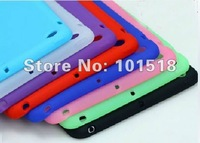 "100pcs/lot Free shipping Silicone Skin Cover Case for for  Apple Ipad MINI 7""tablet New"