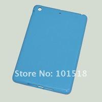 "50pcs/lot Free shipping TPU Curve Gel Case Cover for  Apple Ipad MINI 7""tablet"