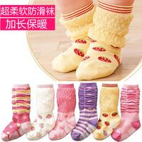 2012 autumn and winter new arrival male socks soft knee-high socks non-slip socks female baby socks