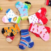 12 kid's socks baby non-slip socks soft socks male female child socks