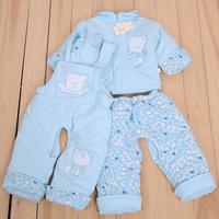 Cotton-padded jacket wadded jacket baby clothes newborn cotton-padded jacket baby 100% cotton bib pants open-crotch pants