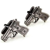 Free shipping!  Gun shape cufflinks,   Fun metal cufflinks, men's cuff links, Fun cuff links  XK0132
