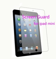 Screen Guard For ipad mini LCD screen protector film with retail packing,Free Shipping 200pcs/lot