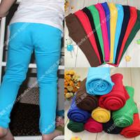 Hot Sale new arrival candy color boys girls pencil pants skinny pants children elastic trousers pencil pants 10color 5 size