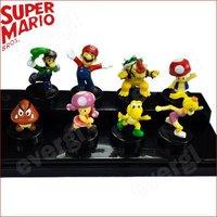 New Super Mario Bros Plastic Figure Doll 8 Pcs