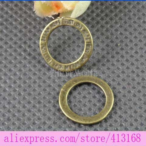 14MM Vintage belt ring handmade DIY jewelry accessories wholesale italian charms(China (Mainland))