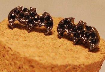 Min Order 15USD  Vintage  Bat Form Earrings  Fashion Jewelry D04439