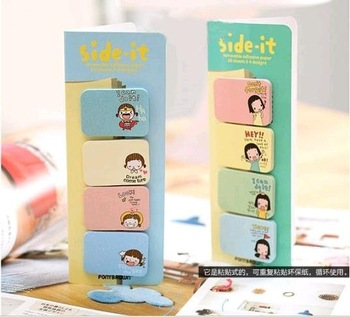 Min Order $20 (mixed order) Retail Korea stationery sticker  biscuits girl sticky pad (KB-11)