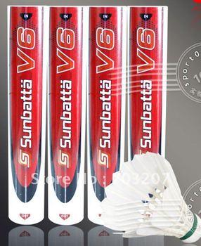 100% Authentic Top quality Sunbatta shuttlecock V6 badminton shuttlecock(champion grade/Competition grade)