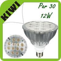 Free Shipping Wholesale  20pcs/lot 12W Par 30 LED Lamp Bulb E27 Spot Light Cool/ Pure / Warm White 100-240V Hot selling !