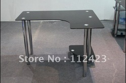Computer desk, glass computer desk, tempered glass 500924(China (Mainland))