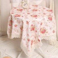 decorative jacquard square lace tablecloths 130*130cm floral wedding bouquets fancy tablecloth princess pink/violet