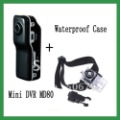 Hot Sale ! MD80 Mini DV Player Recorder Hidden Video Camera Mini Camcorder + waterproof case for mini dv camera free shipping
