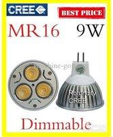 Free shipping 6pcs Dimmable& non dimmable Gu5.3 9W 110V 220V CREE High power LED Spot Light Bulb Spotlight downlight