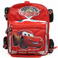 Hot Selling Cute Cars Style Schoolbag Satchel Bag Bookbag Backpack Shoulder Bag for Pupil Children - Size: L :40*33*14  Red