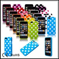 100pcs DHL free shipping New fashion Polka Dot TPU case for iphone 5 5g