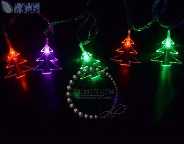 String Of Lights Out On Christmas Tree : High quality 220V 5M 30 LED Christmas tree shaped RGB string lights, Holiday lamps Xmas ...