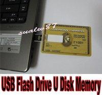 Promotion 30pcs/lot Bank card USB 4GB / 8GB Flash Drive U Disk Memory Stick High Quality Fast shipping