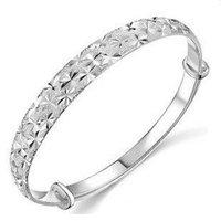 2012 New Hot sale jewelry fashion women ladies  babysbreath  silver Bracelets free shipping