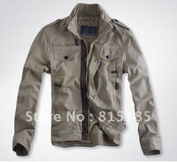 free shipping new Coat Jacket Mens Fashion Korean version of slim denim material men stand collar jacket free EMS