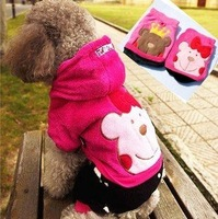Free shipping!On sale! lovely bear Coral fleece  Autumn&winter dog apparel clothes/ costume pet products