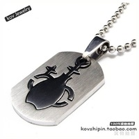 Classic fashion 316l stainless steel accessories necklace classic aquarius titanium steel pendant - lj29