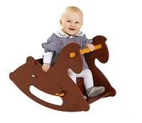 Quality wooden child shook his car wool rollaround horse child hobbyhorse