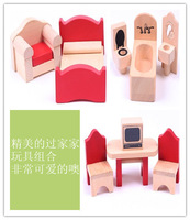 Child toy wooden toy wool mini furniture