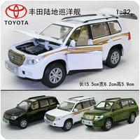 Toy alloy WARRIOR cars TOYOTA land cruiser acoustooptical car model