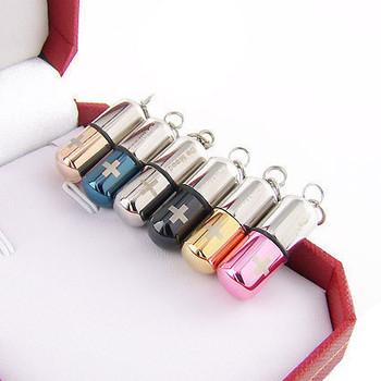Poison lovers titanium steel necklace prolocutor de mood pills pendant