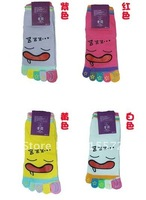 Cute 10 Pairs Men Women Lovers Boy Girl Children Hosiery Five Finger Toe Cotton Socks X-MAS Gift New