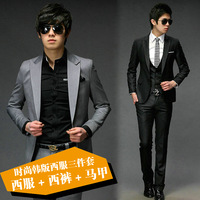 Free Shipping Wedding commercial fashion slim hot-selling  suit piece set hottest       2459