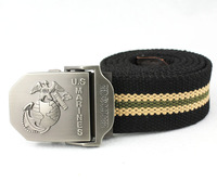 Lengthen navy male canvas belt thickening male female knitted belt