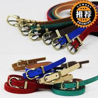 Popular strap pigskin brief fashion clothes decoration belt female thin belt