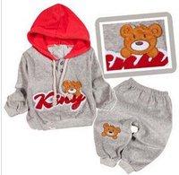 Комплект одежды для девочек kid actor] 2013 girls suit child rabbit set baby fashion children's clothing fashion girls twinset girls set