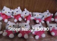Purple color 7cm size 30pcs/lot Hello kitty stuffed Animal Toy free shipping