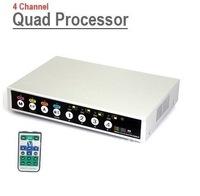 Home security 4CH CCTV Surveillance Digital Camera Video Quad Processor 4 Different BNC Cameras