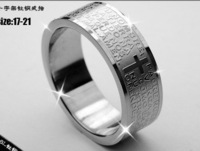 Qd0077 ring bible cross titanium male ring titanium ring