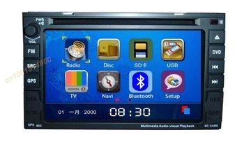 "6.2"" 2 din indash car navigation+bluetooth RDS TV FM IR remote control Gift Map"