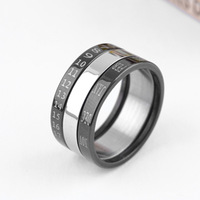 Black titanium ring finger ring