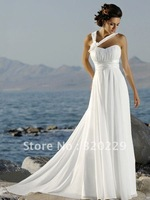 2014 Stock White Wedding Brides Dress size 6 8 10 12 14 16   LJ329